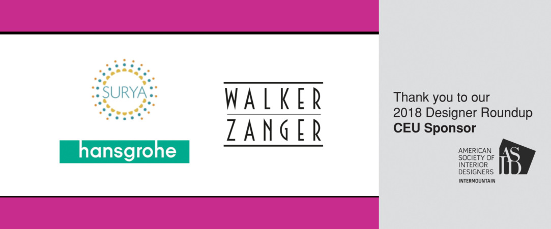 2018 Designer Round Up CEU Sponsors - Hansgrohe and Walker Zanger